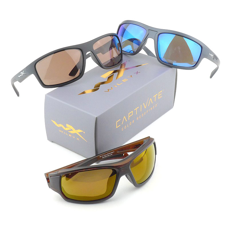 Wiley X Captivate Lenses (Models shown – Contend, Peak and Breach)
